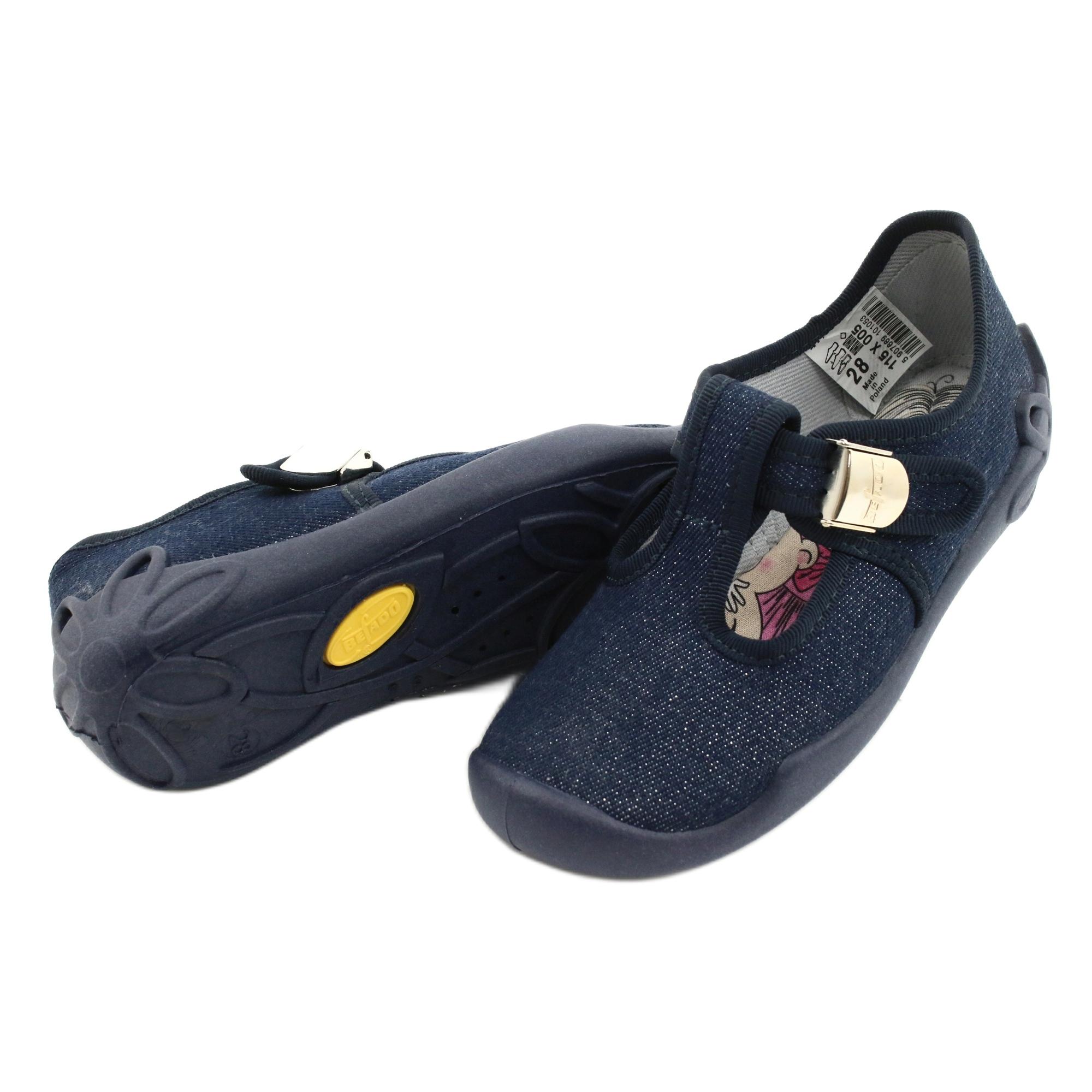 miniatura 6 - Scarpe per bambini Befado in bianco blu navy