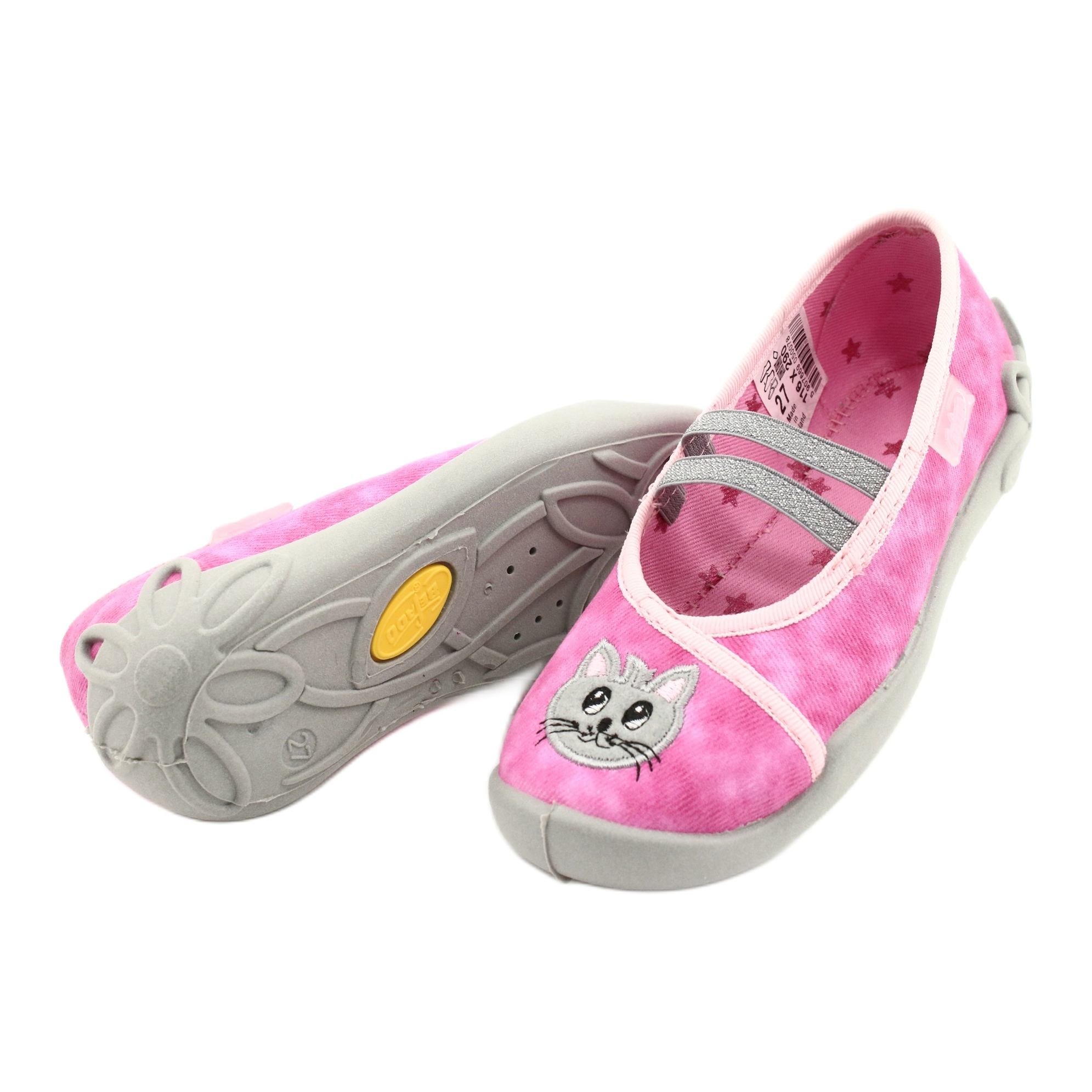 miniatura 5 - Scarpe per bambini Befado 116X290 rosa argento grigio