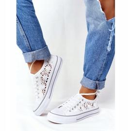 FB2 Sneakers da donna in pizzo candice bianco 4