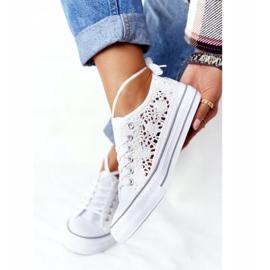 FB2 Sneakers da donna in pizzo candice bianco 3