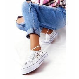 FB2 Sneakers da donna in pizzo candice bianco 1