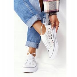 FB2 Sneakers da donna in pizzo candice bianco 2
