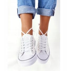 FB2 Sneakers da donna in pizzo candice bianco 5