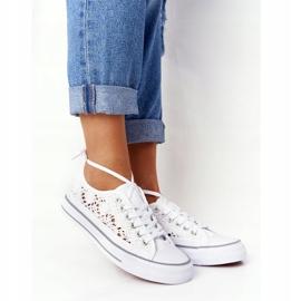 FB2 Sneakers da donna in pizzo candice bianco 6