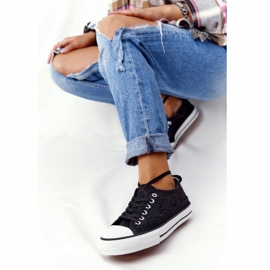 FB2 Sneakers Candice in pizzo nero da donna 5