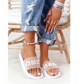 Pantofole da donna Big Star FF274A199 Bianche incolore bianco 5