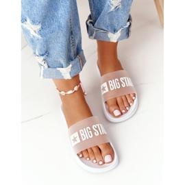 Pantofole da donna Big Star FF274A199 Bianche incolore bianco 3