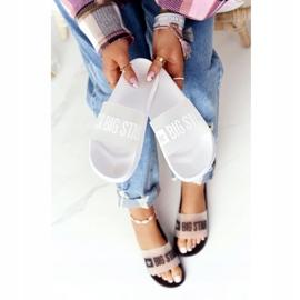 Pantofole da donna Big Star FF274A199 Bianche incolore bianco 4