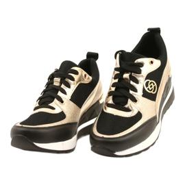 Evento Sneakers con zeppa da donna 21PB35-4001 Nere Oro Roxette nero d'oro 2