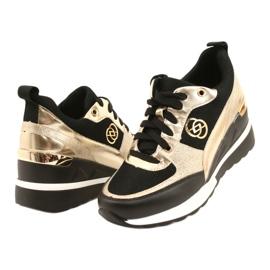 Evento Sneakers con zeppa da donna 21PB35-4001 Nere Oro Roxette nero d'oro 3