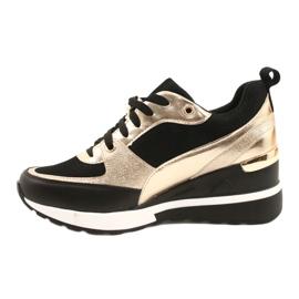 Evento Sneakers con zeppa da donna 21PB35-4001 Nere Oro Roxette nero d'oro 1
