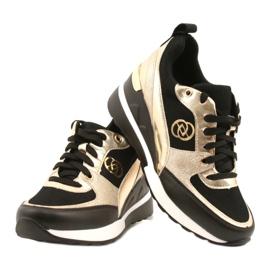 Evento Sneakers con zeppa da donna 21PB35-4001 Nere Oro Roxette nero d'oro 4