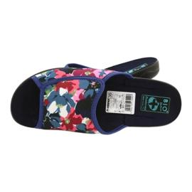 Pantofole da donna con fiori Adanex 23000 bianco rosso marina rosa verde 4