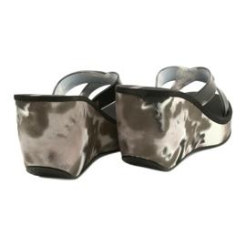 Pantofole con zeppa Ipanema 83071 Lipsick Straps VII da donna nero grigio 3