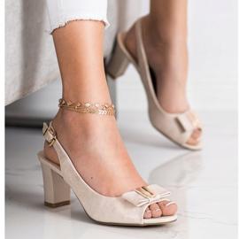 Evento Sandali eleganti con tacchi alti beige 1