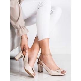 Evento Sandali eleganti con tacchi alti beige 2