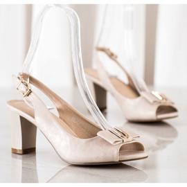 Evento Sandali eleganti con tacchi alti beige 3
