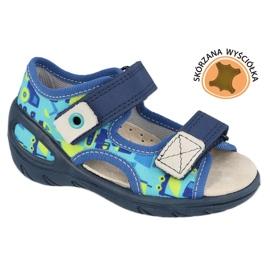 Scarpe per bambini Befado pu 065X156 blu navy blu verde 1