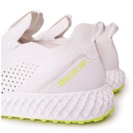 Scarpe Sportive da uomo Memory Foam Big Star FF174235 Bianco-Lime verde 1