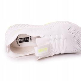 Scarpe Sportive da uomo Memory Foam Big Star FF174235 Bianco-Lime verde 2