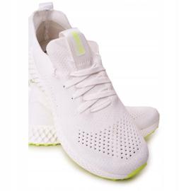 Scarpe Sportive da uomo Memory Foam Big Star FF174235 Bianco-Lime verde 3