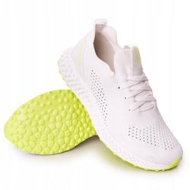 Scarpe Sportive da uomo Memory Foam Big Star FF174235 Bianco-Lime verde 4