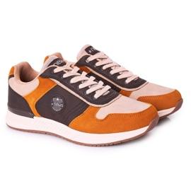 NEWS Scarpe sportive da uomo Sneakers Giallo-Marrone Harold multicolore 1