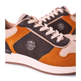 NEWS Scarpe sportive da uomo Sneakers Giallo-Marrone Harold multicolore 6
