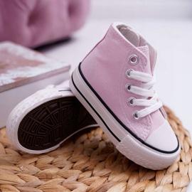 FRROCK Sneakers classiche per bambini Filemon alte rosa 3