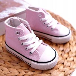 FRROCK Sneakers classiche per bambini Filemon alte rosa 2
