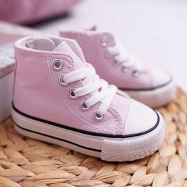 FRROCK Sneakers classiche per bambini Filemon alte rosa 1