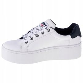 Tommy Hilfiger Iconic Leather Flatform scarpe in EN0EN01113-YBR bianco marina 1