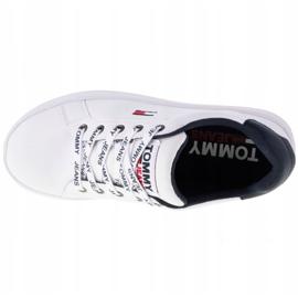 Tommy Hilfiger Iconic Leather Flatform scarpe in EN0EN01113-YBR bianco marina 2