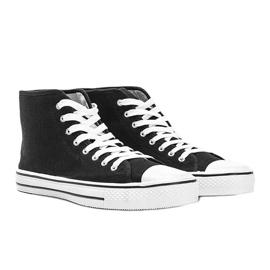 Sneakers nere da uomo Gin alla caviglia nero 1