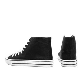 Sneakers nere da uomo Gin alla caviglia nero 2