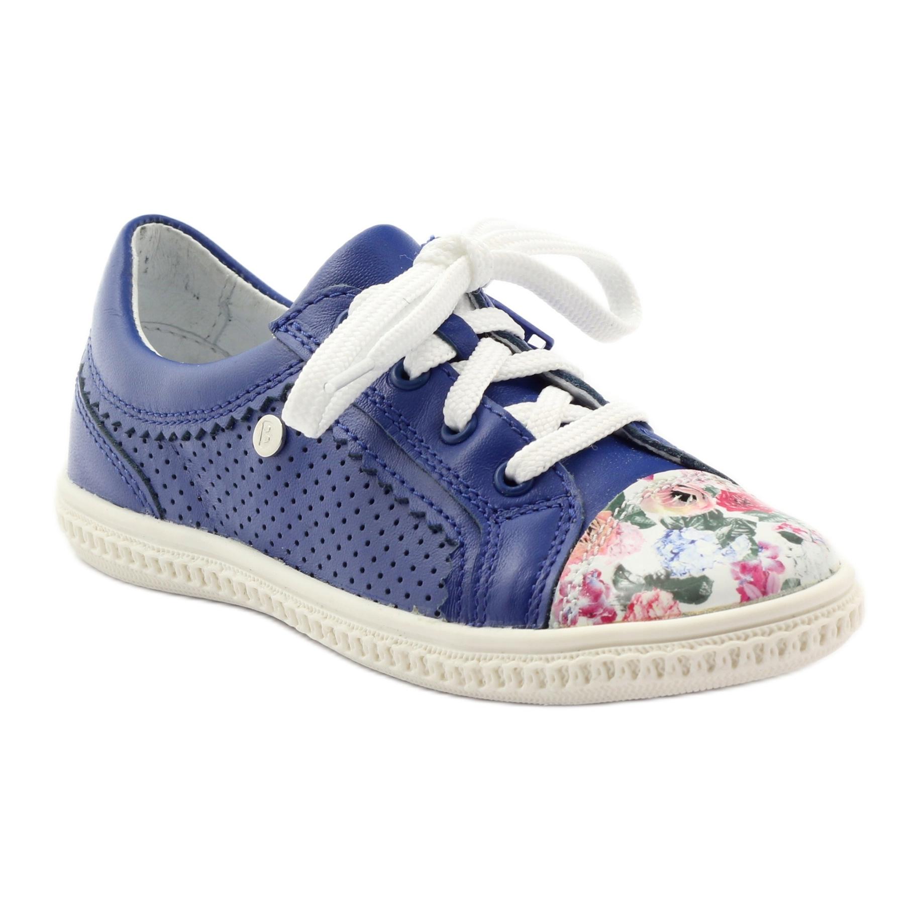 Scarpe-basse-per-bambina-fiori-Bartek-15524-blu-multicolore miniatura 2