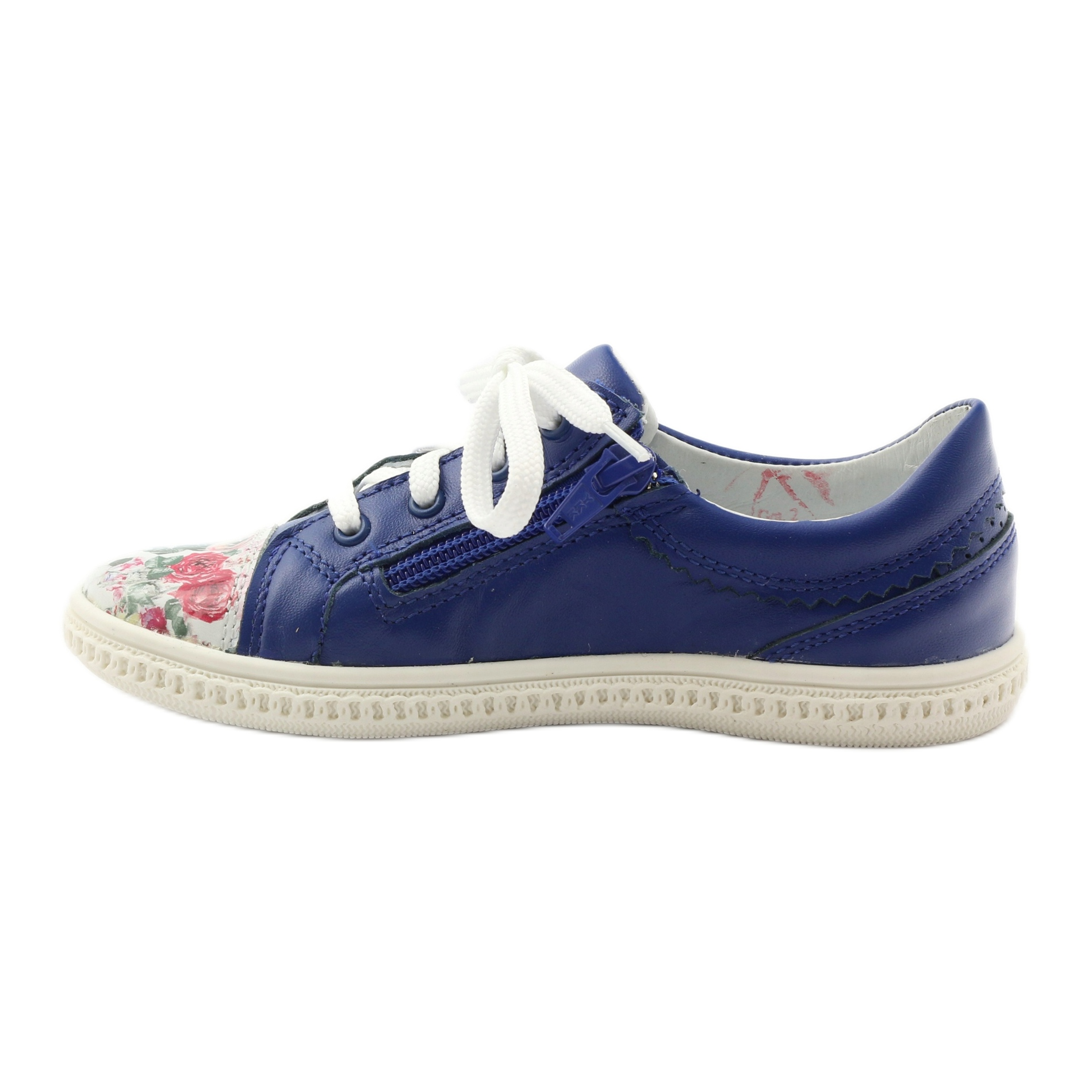 Scarpe-basse-per-bambina-fiori-Bartek-15524-blu-multicolore miniatura 3