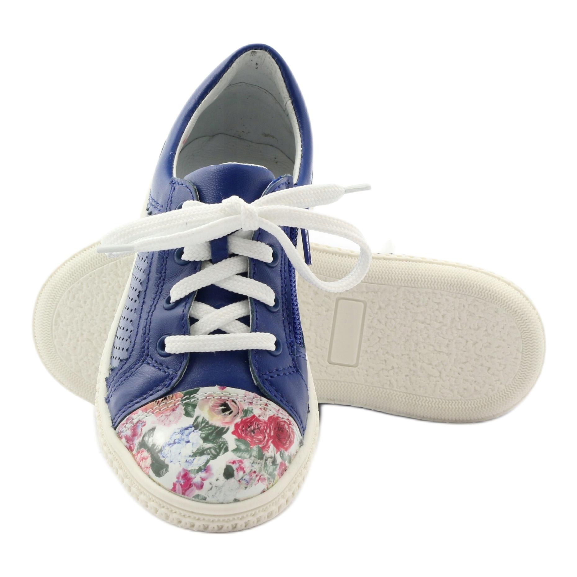 Scarpe-basse-per-bambina-fiori-Bartek-15524-blu-multicolore miniatura 4