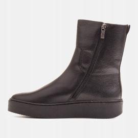 Marco Shoes Comodi stivali Marco con fondo piatto nero 2