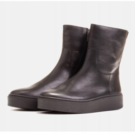 Marco Shoes Comodi stivali Marco con fondo piatto nero 3