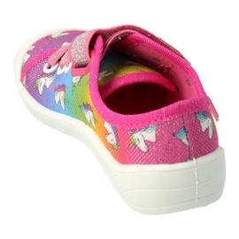 Scarpe per bambini Befado 251X178 Unicorno blu arancia rosa d'argento verde 1