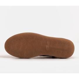 Marco Shoes Stivali bassi stringati realizzati in morbida pelle beige 8