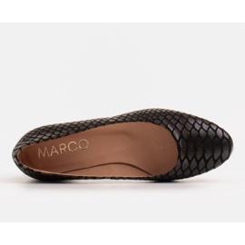 Marco Shoes Ballerine in pelle di serpente con tacco tondo nero 5