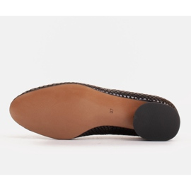 Marco Shoes Ballerine in pelle di serpente con tacco tondo nero 6
