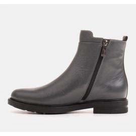 Marco Shoes Stivali leggeri isolati con fondo piatto in pelle naturale grigio 2