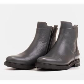 Marco Shoes Stivali leggeri isolati con fondo piatto in pelle naturale grigio 3