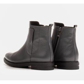 Marco Shoes Stivali leggeri isolati con fondo piatto in pelle naturale grigio 4