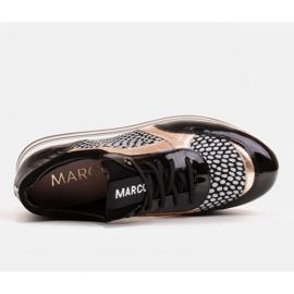 Marco Shoes Sneakers leggere su una suola spessa in pelle naturale nero 7