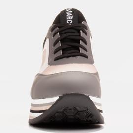 Marco Shoes Sneakers leggere su una suola spessa in pelle naturale grigio 2