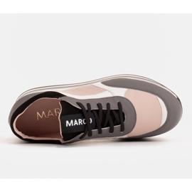 Marco Shoes Sneakers leggere su una suola spessa in pelle naturale grigio 6